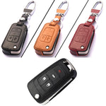 Leather Key Remote Cover For Chevrolet Series C,  - Any Car Accessories