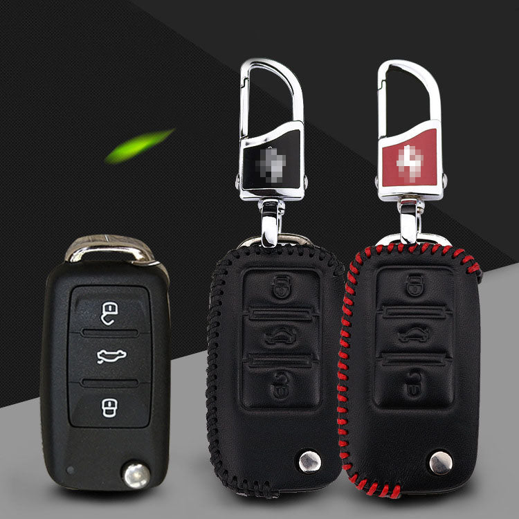 Leather Key Remote Cover For VW Series B,  - Any Car Accessories