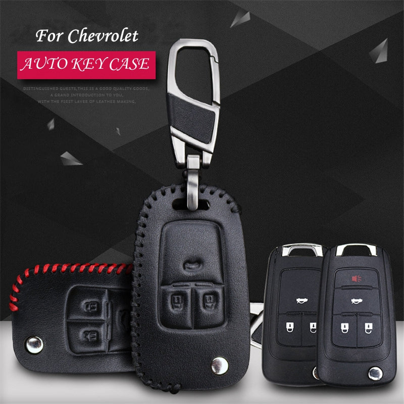 Leather Key Remote Case Cover For Chevrolet CRUZE / SAIL / AVEO/ EP,  - Any Car Accessories