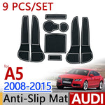 Anti-Slip Rubber Door Groove Mat For AUDI A5 2008-2015 B8,  - Any Car Accessories