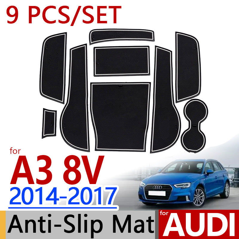 Anti-Slip Rubber Door Mat For Audi A3 2014 2015 2016 2017,  - Any Car Accessories