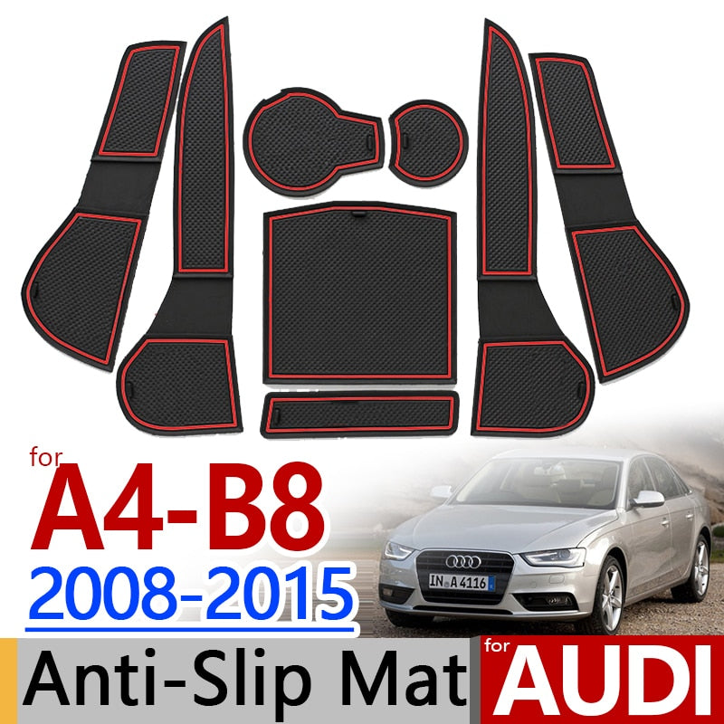 Anti-Slip Rubber Door Mat For Audi A4 B8 2008 2010 2011 2012 2013 2014 2015,  - Any Car Accessories