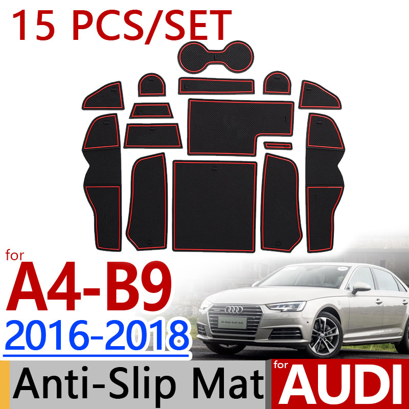 Anti-Slip Rubber Door Mat For Audi A4 B9 2016 2017 2018,  - Any Car Accessories
