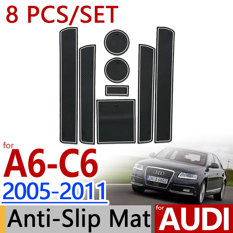 Anti-Slip Rubber Door Mat For Audi A6 2005-2011,  - Any Car Accessories