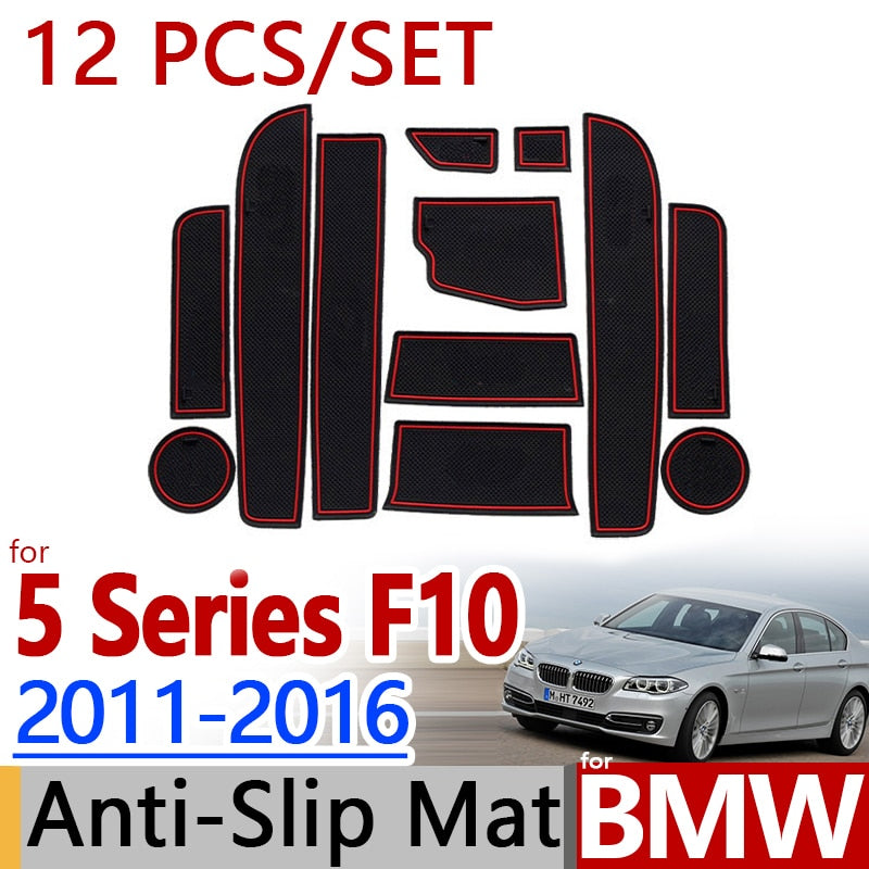 Anti-Slip Rubber Door Mat For BMW F10 5 Series 2011-2016 518 520 525,  - Any Car Accessories