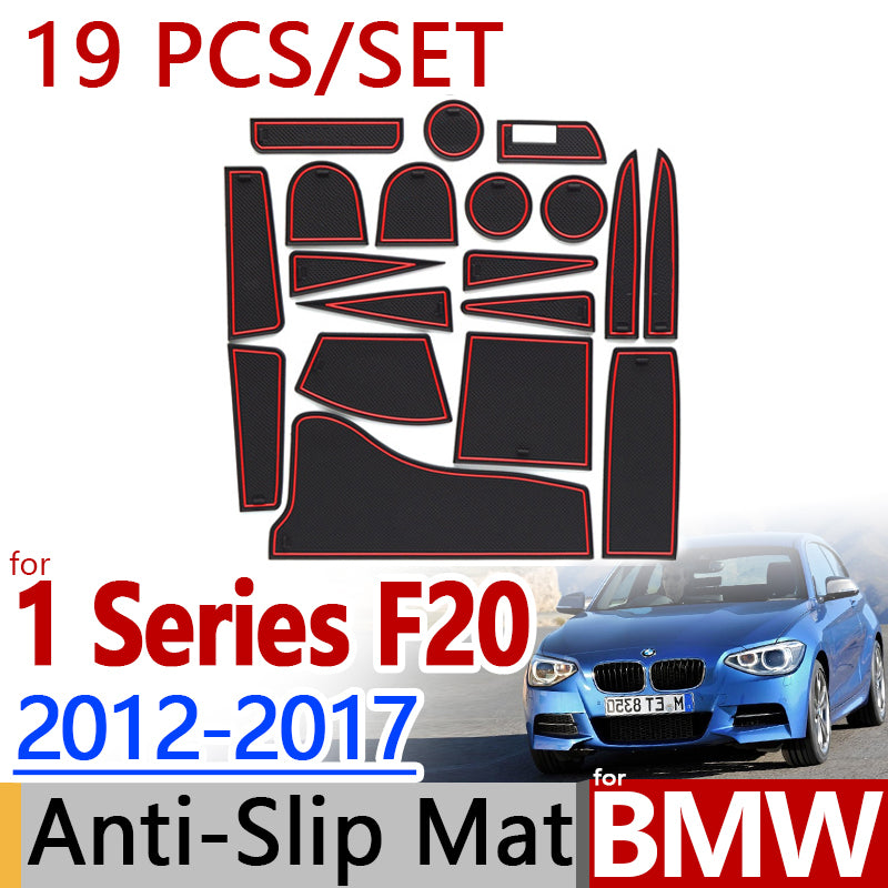 Anti-Slip Rubber Door Groove Mat For BMW F20 1 Series 2012 2015 116 118 120,  - Any Car Accessories