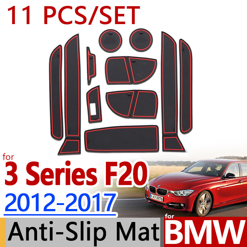 Anti-Slip Rubber Door Mat For BMW F30 3 Series 2012 2013 20152016 2017 318 320 328,  - Any Car Accessories