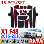 Anti-Slip Rubber Door Groove Mat For BMW F48 X1 2016  2017 2018,  - Any Car Accessories
