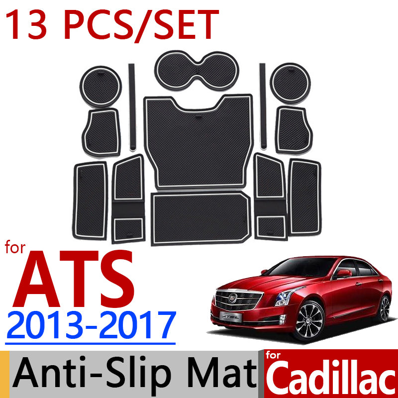 Anti-Slip Rubber Door Mat For Cadillac ATS 2013 2014 2015 2016 2017,  - Any Car Accessories