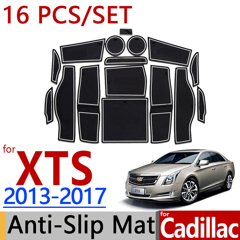 Anti-Slip Rubber Door Mat For Cadillac XTS 2013 2014 2015 2016 2017,  - Any Car Accessories