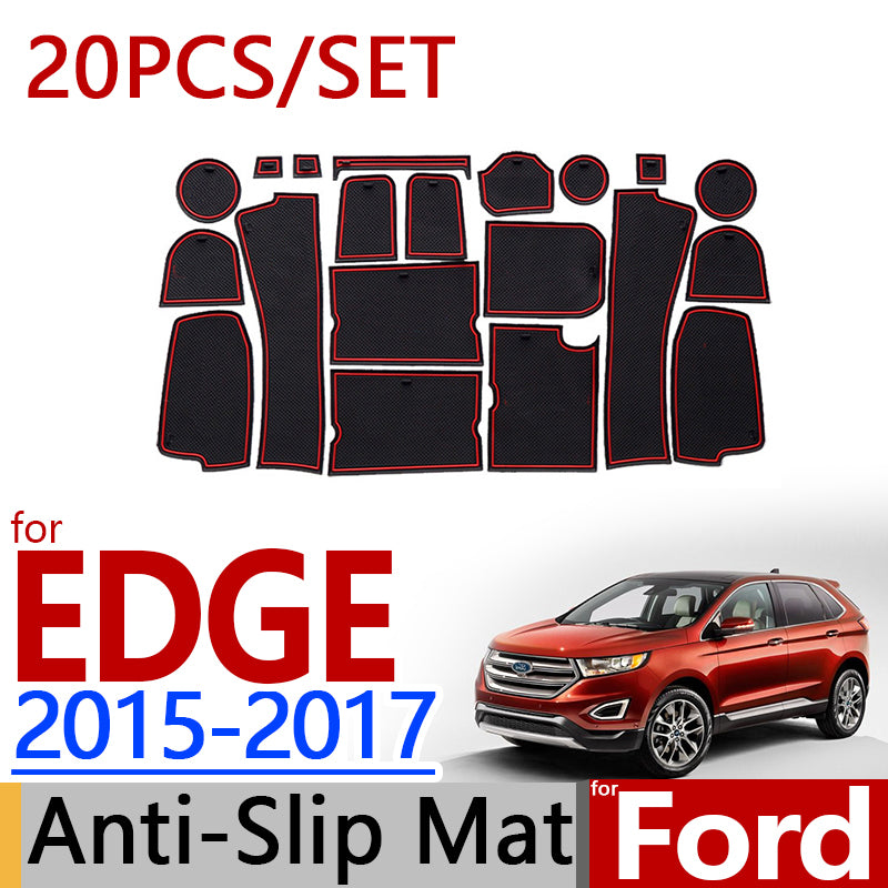 Anti-Slip Rubber Door Mat For Ford EDGE 2015 2016 2017,  - Any Car Accessories