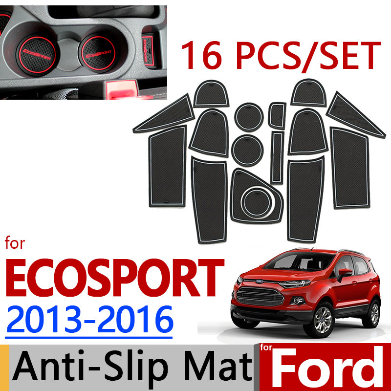 Anti-Slip Rubber Door Mat For Ford Ecosport 2013 2014 2015 2016,  - Any Car Accessories