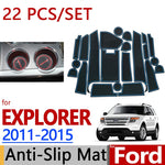Anti-Slip Rubber Door Mat For Ford Explorer 2011 2012 2013 2014 2015,  - Any Car Accessories