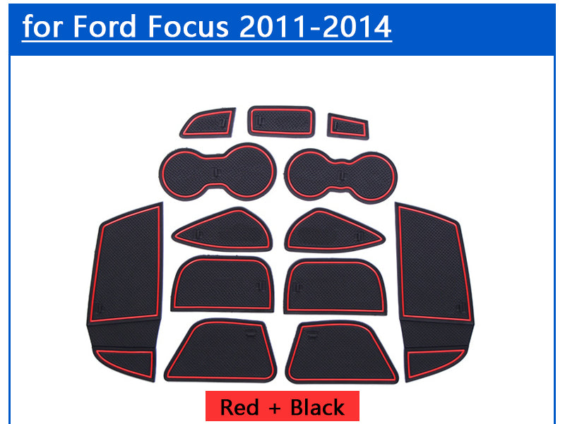 Anti-Slip Rubber Door Mat For Ford Focus 3 2011-2014 MK3 2012 2013,  - Any Car Accessories