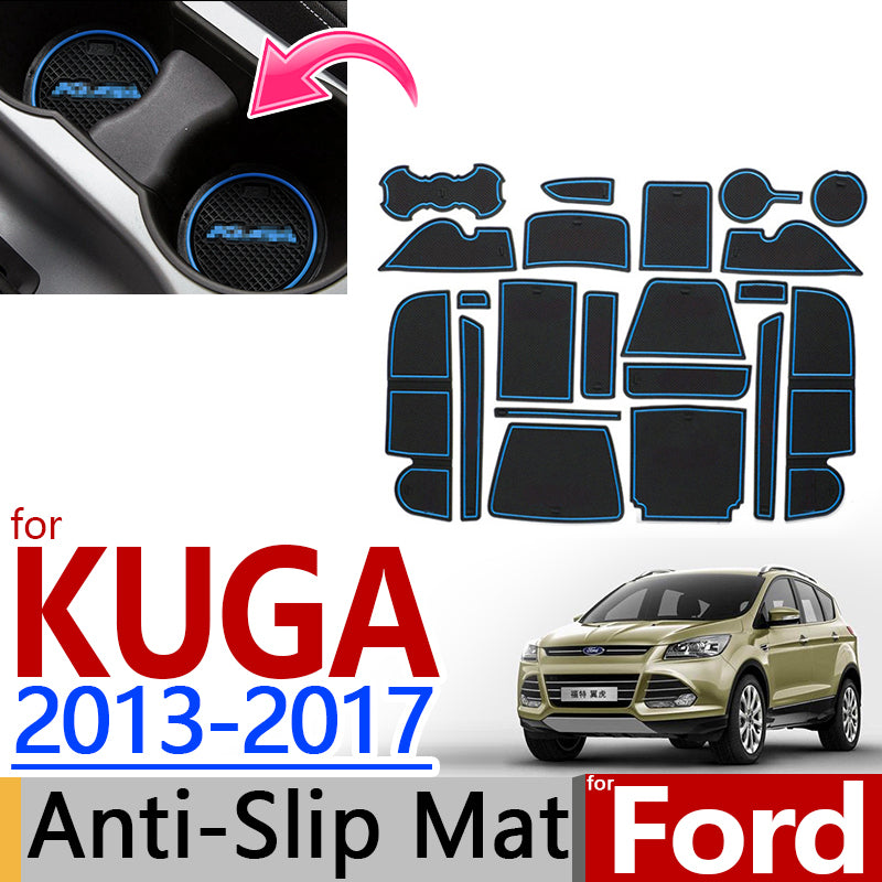 Anti-Slip Rubber Door Groove Mat For Ford KUGA 2013 2014 2015 2016 2017,  - Any Car Accessories