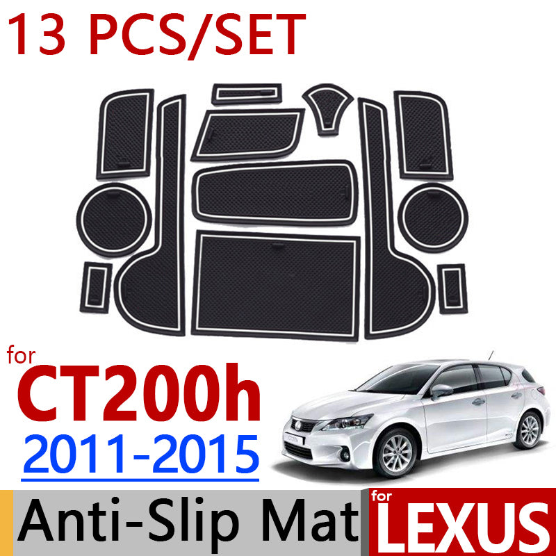 Anti-Slip Rubber Door Groove Mat For Lexus CT200h 2012 2013 2014,  - Any Car Accessories