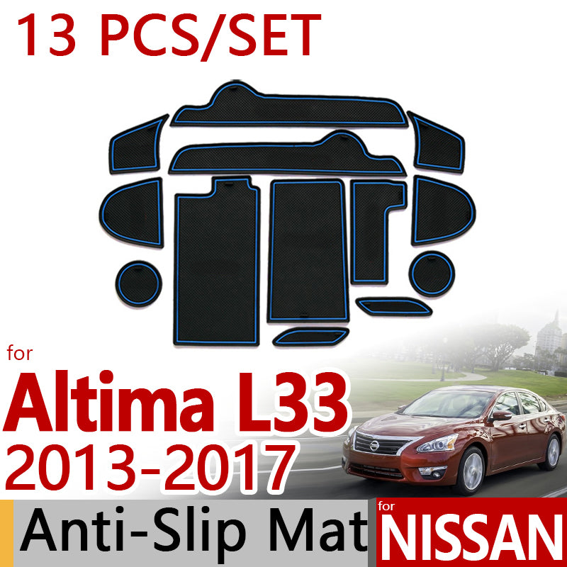 Anti-Slip Rubber Door Mat For Nissan Altima L33 Teana 2013 2014 2015 2016 2017,  - Any Car Accessories