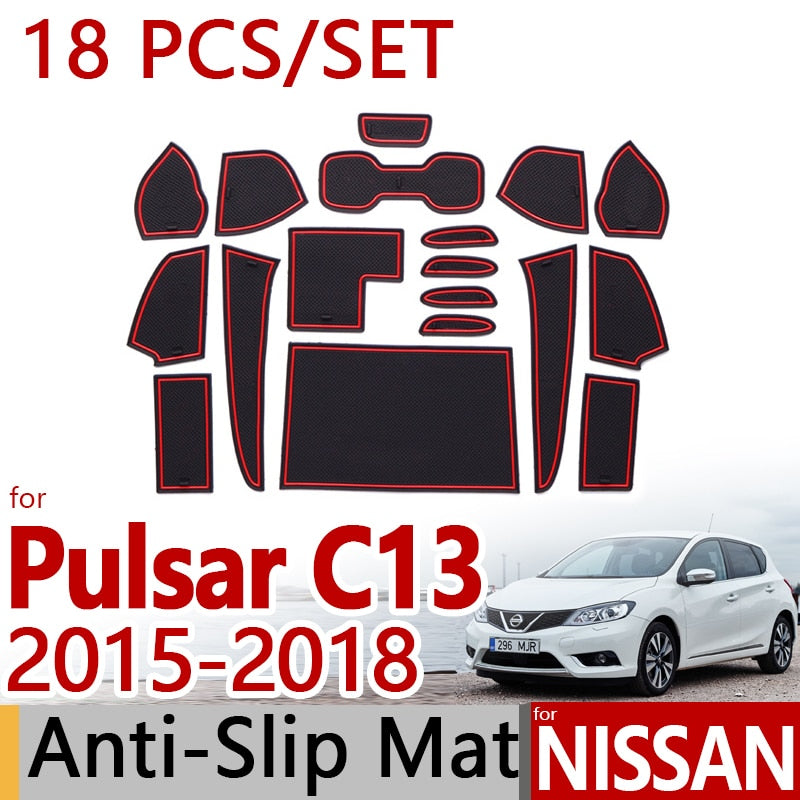 Anti-Slip Rubber Door Mat For Nissan Pulsar C13 2015 2016 2017 Tiida 2016,  - Any Car Accessories