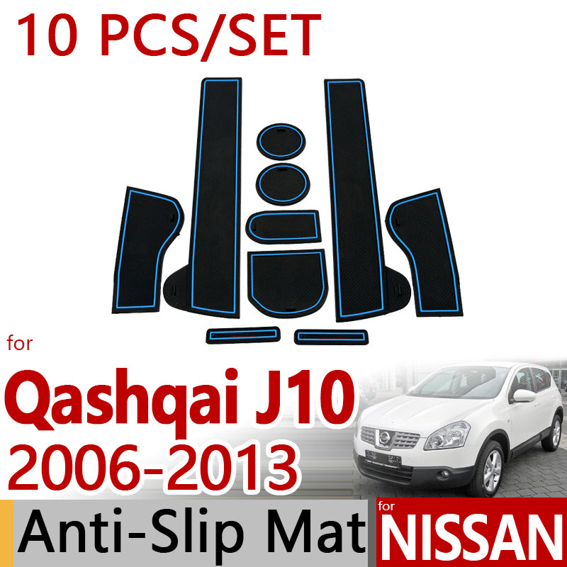 Anti-Slip Rubber Door Mat For Nissan Qashqai J10 2006-2013  Dualis 2010 2011,  - Any Car Accessories