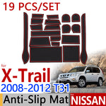 Anti-Slip Rubber Door Mat For Nissan X-Trail T31 2008 2009 2010 2011 2012,  - Any Car Accessories