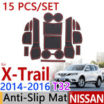 Anti-Slip Rubber Door Mat For Nissan X-Trail T32 2014 2015  Rogue X Trail 2015,  - Any Car Accessories