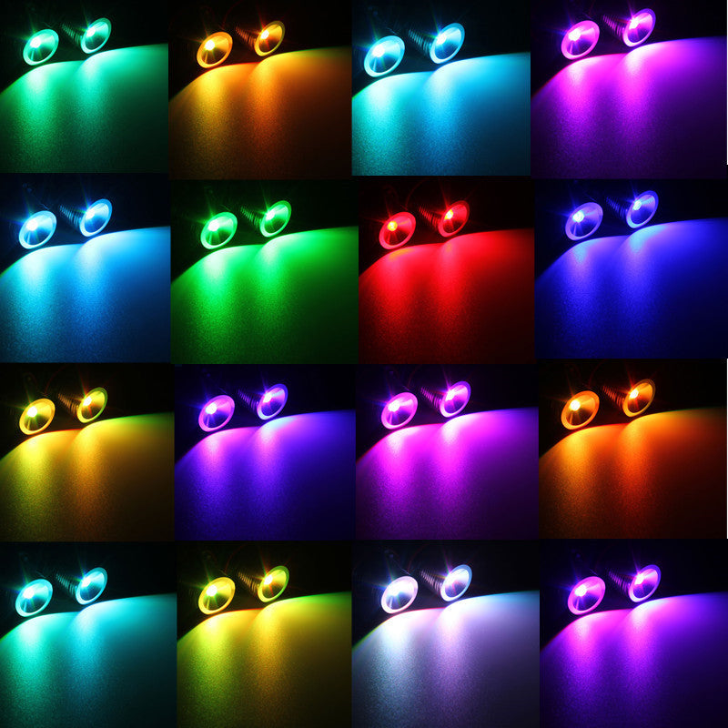 RGB LED Angel Eyes For BMW E39 E60 E61 E63 E64 E65 E66 E83 E53 E87 5 series, lights - Any Car Accessories