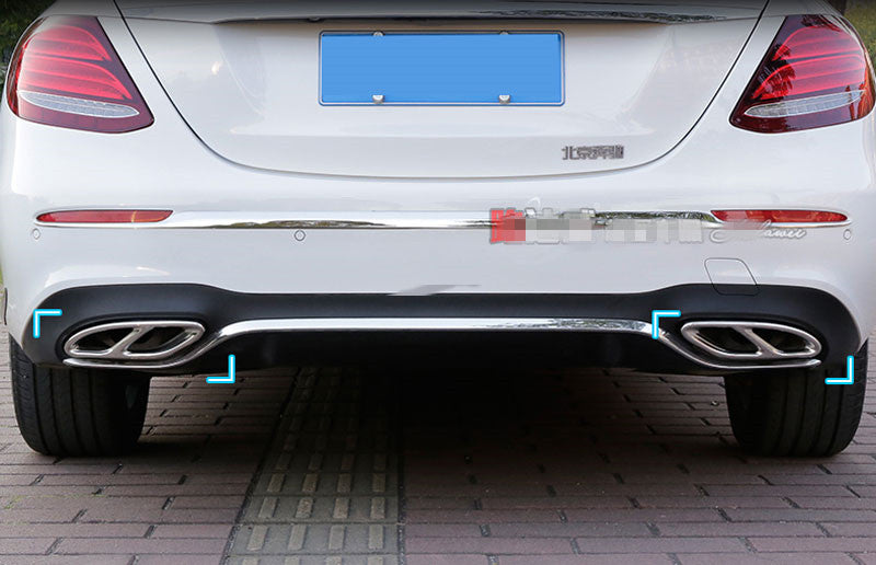 Exhaust Cover Trim For Mercedes Benz GLC A B C E Class W205 Coupe W213 W176 W246 2016-17, exterior - Any Car Accessories