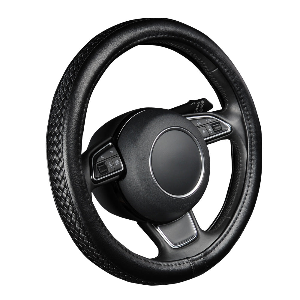"Leather Steering Wheel Cover 38cm/15"",  - Any Car Accessories"