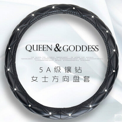 Luxury Leather Car Steering Wheel Cover,  - Any Car Accessories