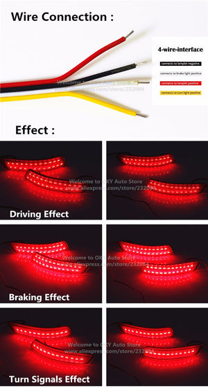 Rear Bumper LED Light For Toyota Corolla 2014 Lexus, lights - Any Car Accessories