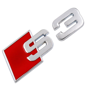S Line 3D Metal Logo Sticker For Audi  S3 S4 S5 S6 S8  S, car decals - Any Car Accessories
