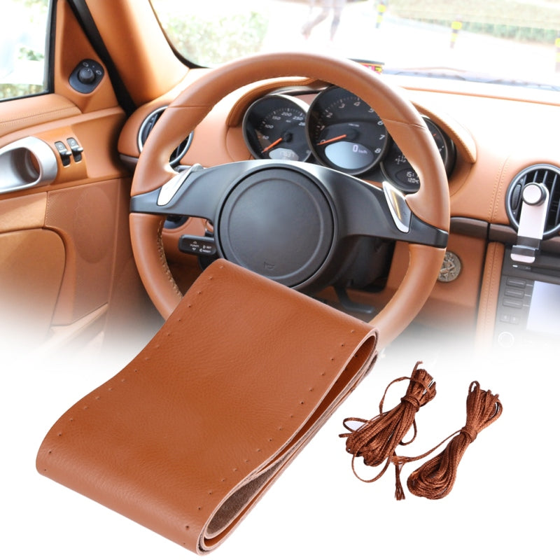 38cm Leather Steering Cover,  - Any Car Accessories