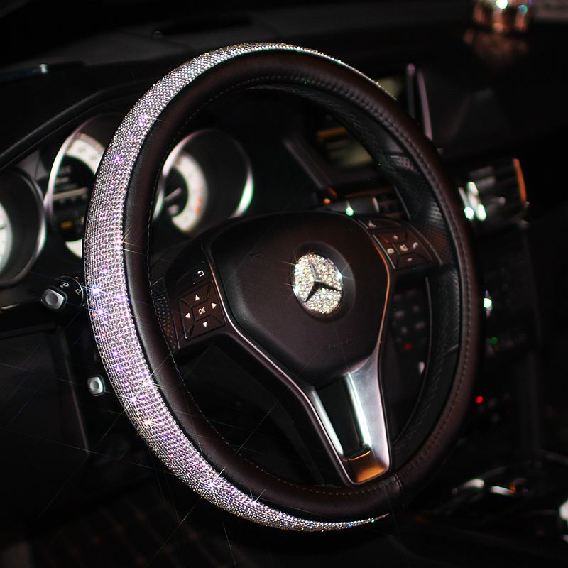 Luxury Steering Wheel Cover for Women Girls 38cm,  - Any Car Accessories