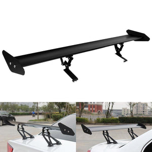 Black Spoiler Universal GT Adjustable Aluminum (110 cm - 43.3), exterior - Any Car Accessories