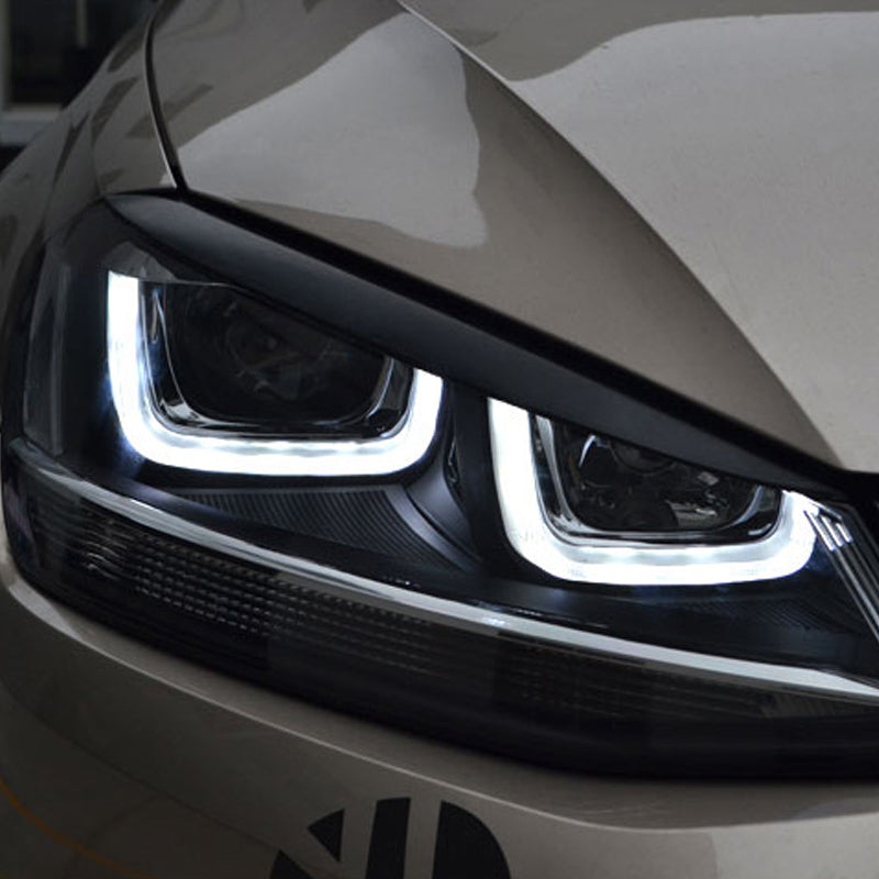 Headlights Eyebrow For Volkswagen VW Golf 7 MK7 GTI R, exterior - Any Car Accessories