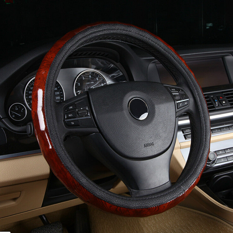 Luxury Steering Wheel Cover 38cm,  - Any Car Accessories