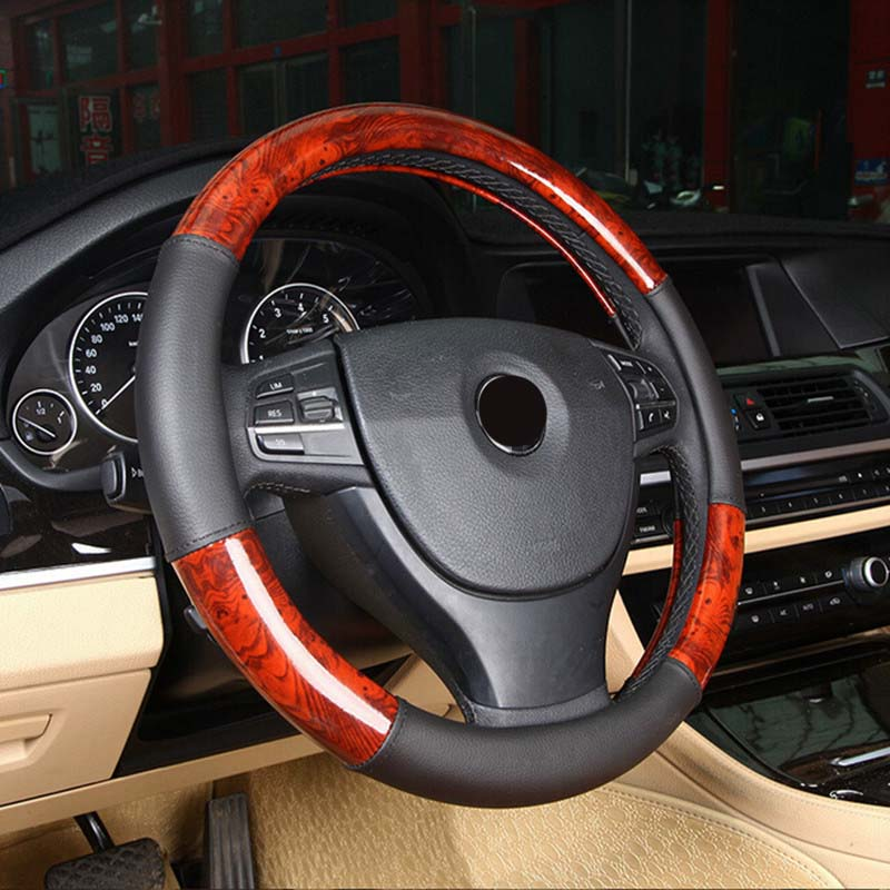 Luxury Steering Wheel 38cm Cover,  - Any Car Accessories