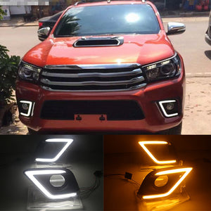 LED Daytime Running Light For Toyota Hilux 2015-2016 Hilux Revo Vigo, lights - Any Car Accessories