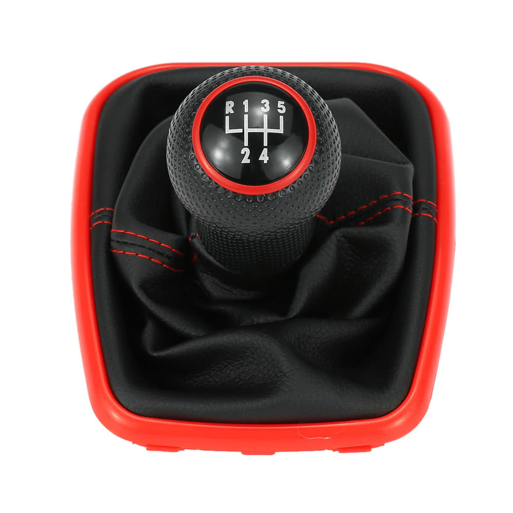 Leather 5 Speed Gear Shift Knob for VW Golf Bora Jetta, exterior - Any Car Accessories
