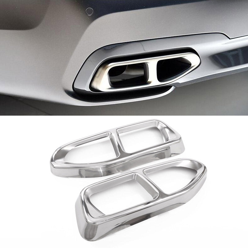 Chrome Exhaust Cover For BMW 7 Series G11 G12 730 740 750li 2016 2017,  - Any Car Accessories
