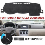 Dashboard Cover For Toyota Corolla 2000-2005,  - Any Car Accessories
