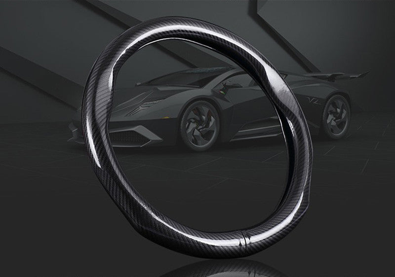 38cm Steering Wheel Cover Carbon Fiber 38cm,  - Any Car Accessories