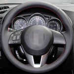 Steering Wheel Cover for Mazda CX-5 CX5 Atenza 2014 Mazda 3 CX-3 2016,  - Any Car Accessories