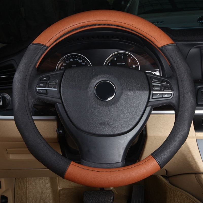 Steering Wheel Cover cap Leather case 36/38/39cm,  - Any Car Accessories