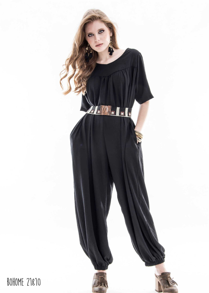 Jumpsuit with back zip