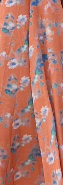 SS20 dress with bow behind print