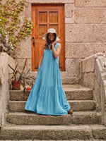 Long dress with frill