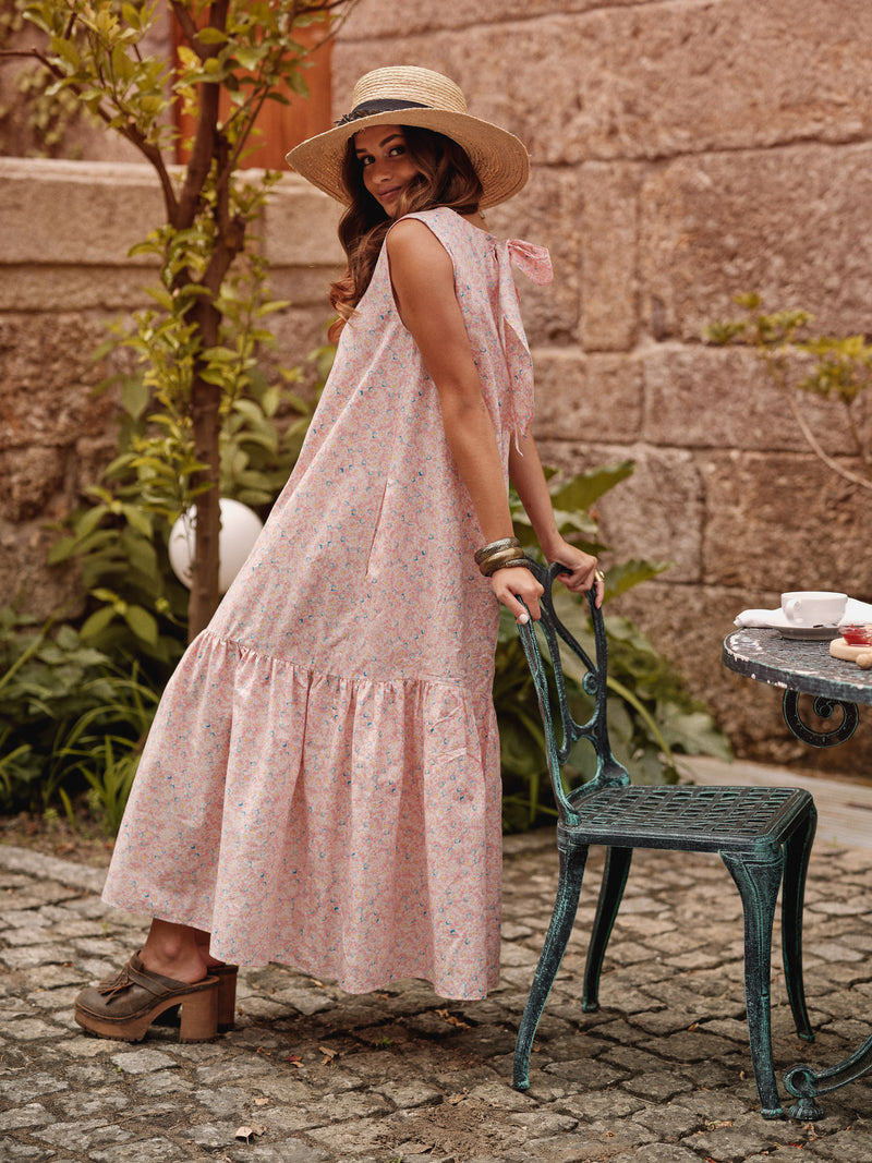 Floral dress with frill