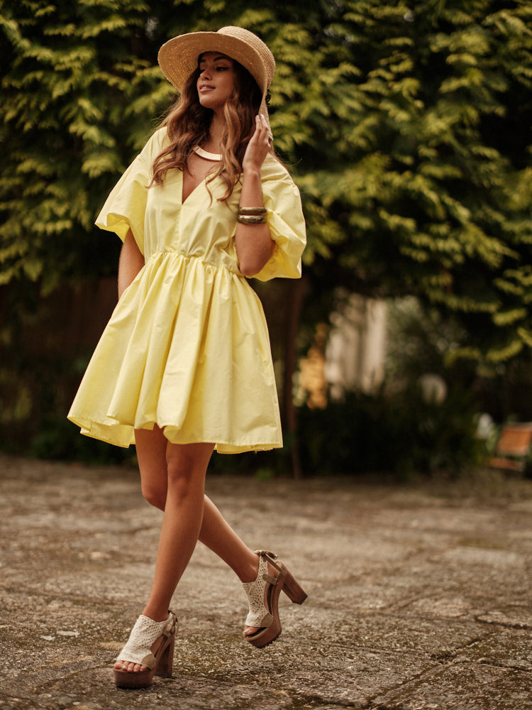 short dress with sleeve