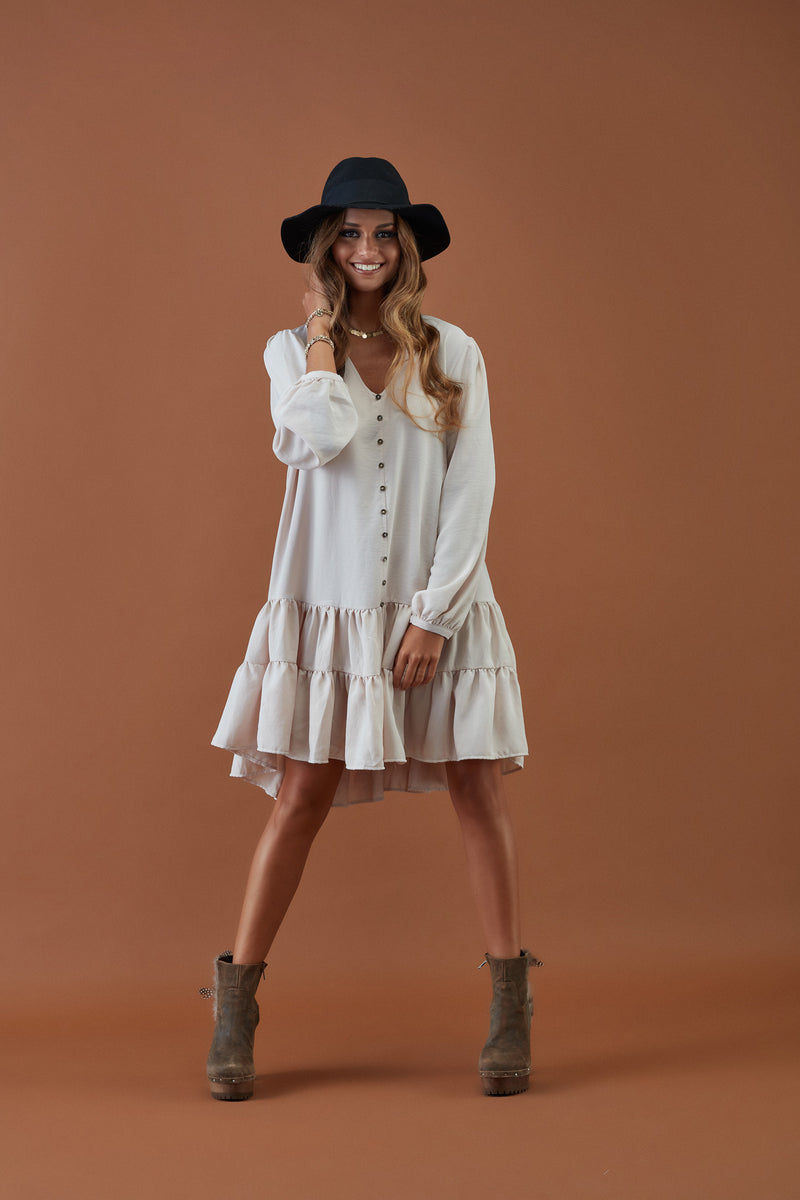 Short dress with buttons FW20